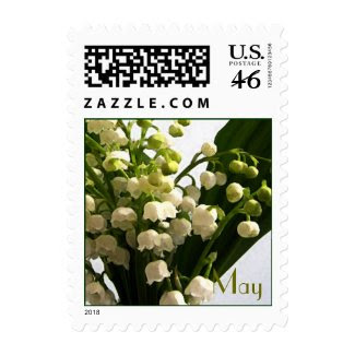 May Birth Flower - Lilly of the Valley stamp