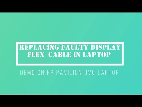 Computer DIY: Replacing faulty LCD display flex ribbon cable on HP Pavilion DV 6 laptop