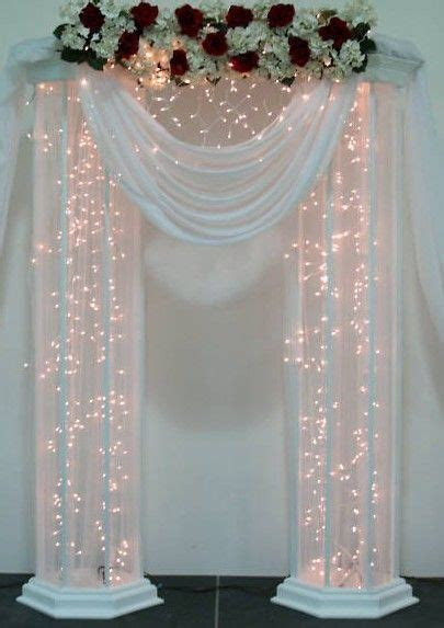 Image result for how to hand make wedding pillars and