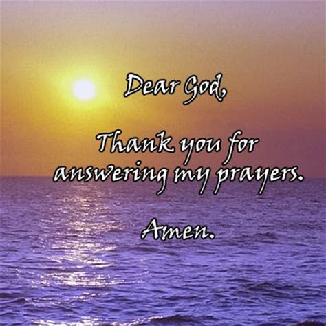 Thank God Quotes For Answering Prayers