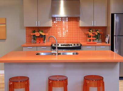 Kitchens With Color Orange Tiletramp