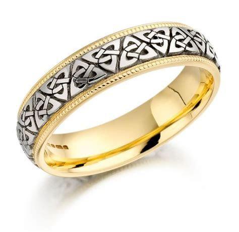 Trinity Knot Wedding Ring ? Mens Two Tone Trinity Celtic