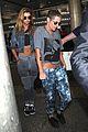 kstew stella arrive home after paris fashion week 01