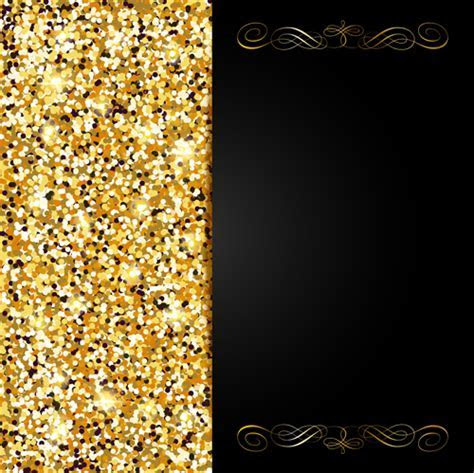 Golden with black VIP invitation card background vector 01