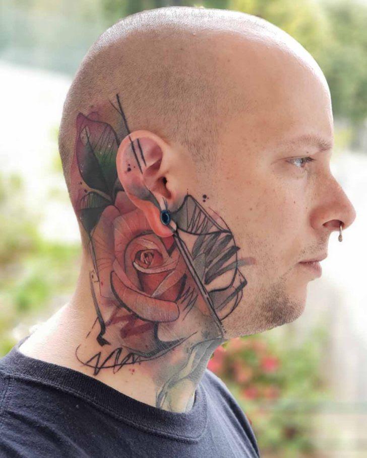 Rose Tattoo On Side Of Head Best Tattoo Ideas Gallery
