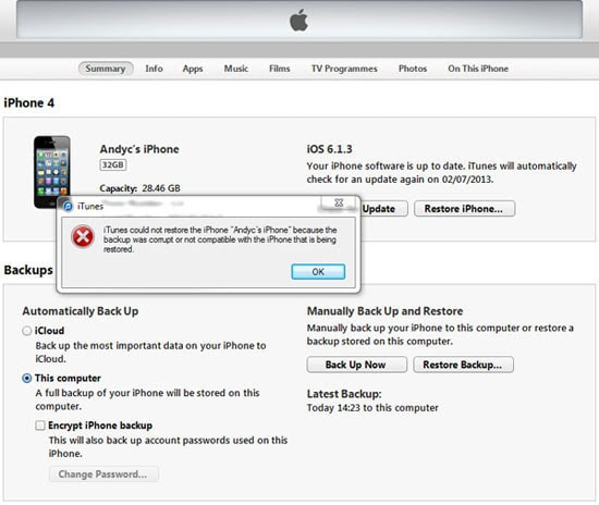Hvordan du gendanner iOS 7 iTunes Backup til iPhone\/iPad\/iPod touch