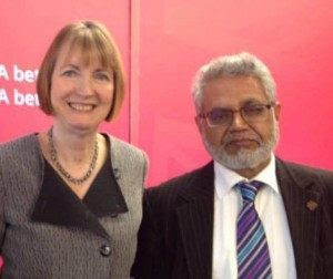 Ghulam Hussain with Harriet Harman