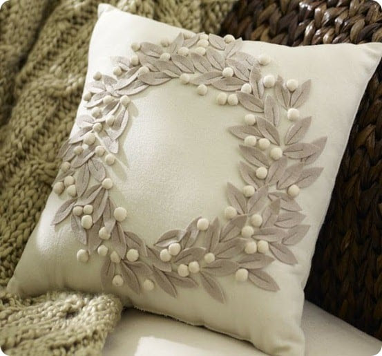 Felt Wreath Pillow