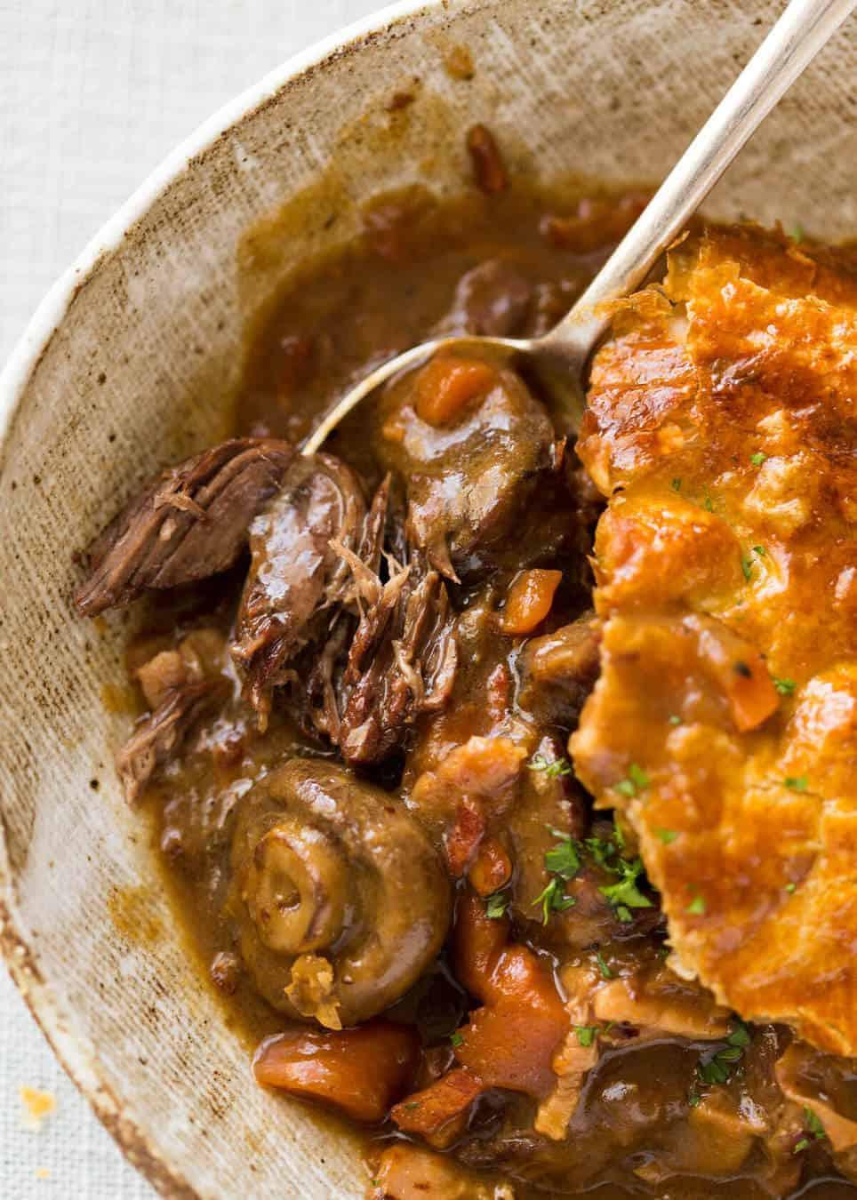 Epic Chunky Beef and Mushroom Pie | RecipeTin Eats