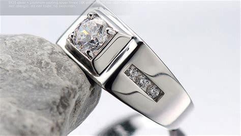 Mens Simulated Diamond Rings   Wedding, Promise, Diamond