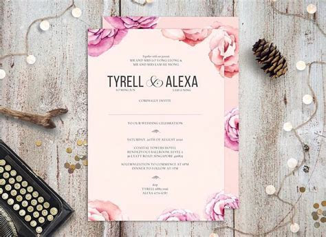 Wedding invitation cards in Singapore: Printers to order