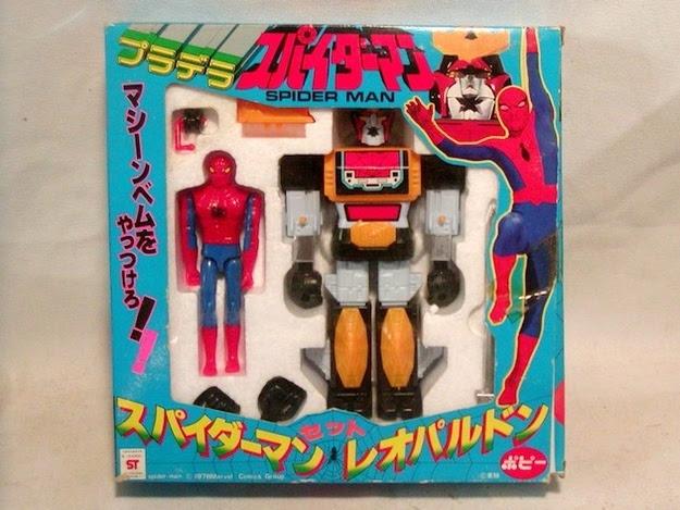 juguete del hombre araña japones y su robot leopardon