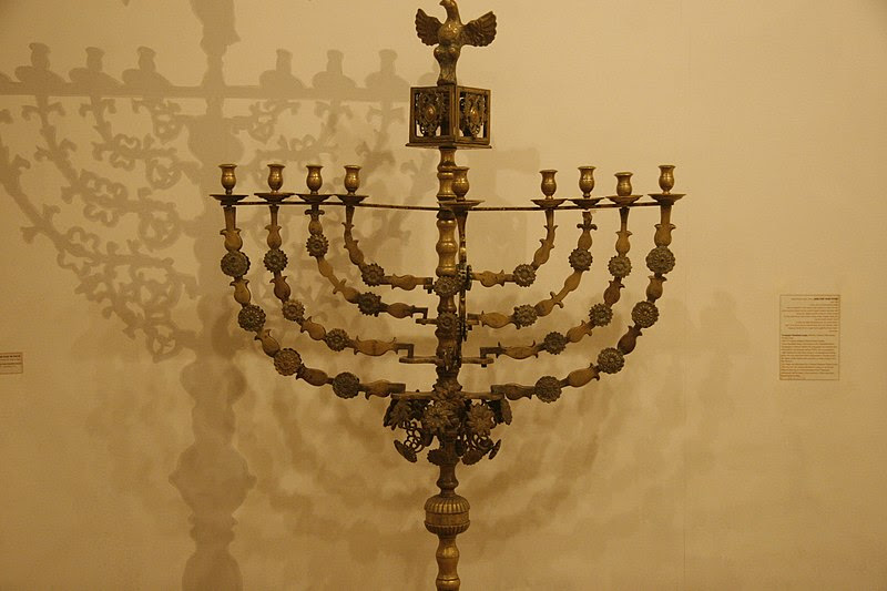 File:Exhibit in heichal shlomo - Hanukkah Menorah3.JPG