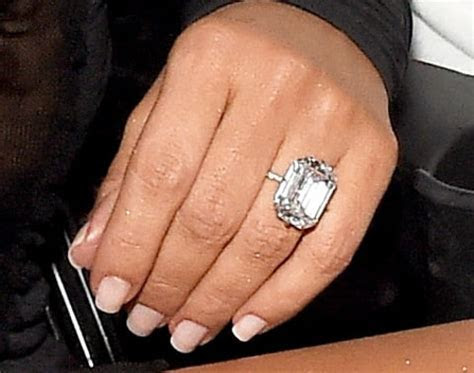 Kim K. Wears 20 Carat Diamond Ring From Kanye West at 2016
