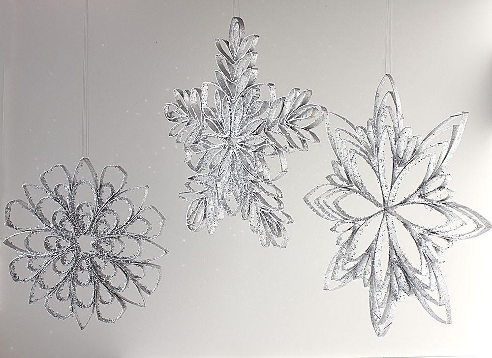 Christmas Ornament Countdown: Cardboard Tube Snowflakes ...