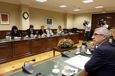 Vista general de la reunión de la Mesa y Portavoces de la Comisión de Interior con el grupo de trabajo de la ONU.