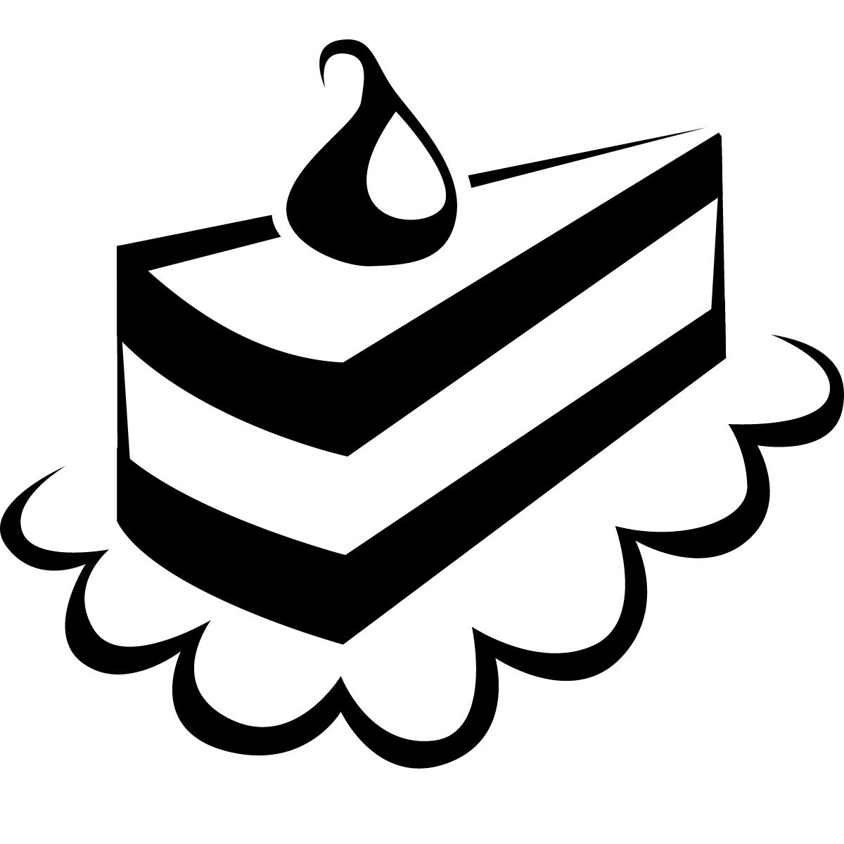 Cake And Clipart Black White
