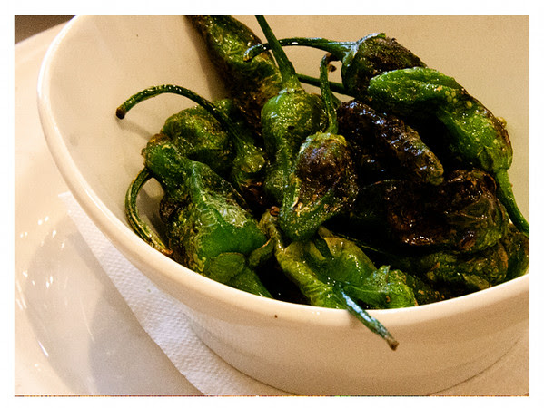 Padron Peppers Roasted and Tossed with Olive Oil and Sea Salt