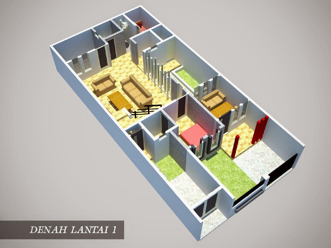 Denah Rumah 3 Kamar Ukuran 7x9 Paling Dicari Terbaru Desain Rumah