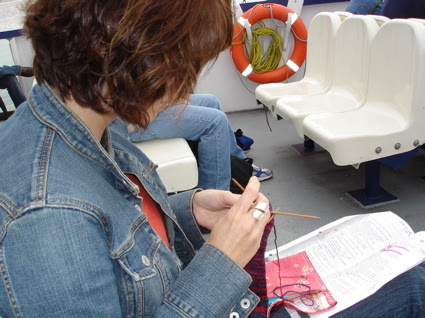 JAK - knitting on the ferry