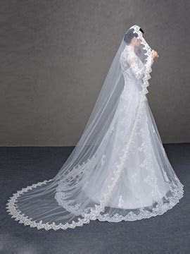Cheap Wedding Veils Online Sale, Long Lace Wedding Veils