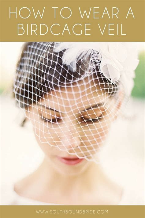 How to Wear a Birdcage Veil   SouthBound Bride