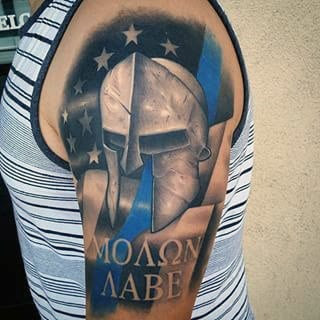 30 Molon Labe Tattoo Designs For Men Tactical Ink Ideas