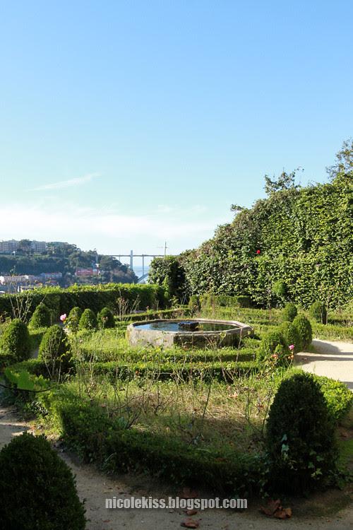 garden of a restaurant