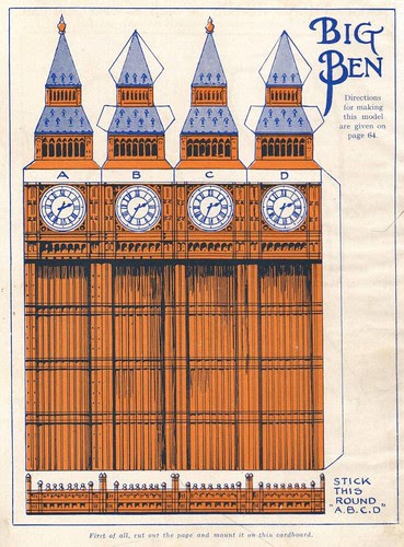 Vintage cutout to make: Big Ben