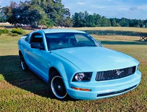 generation blue  ford mustang automatic  sale