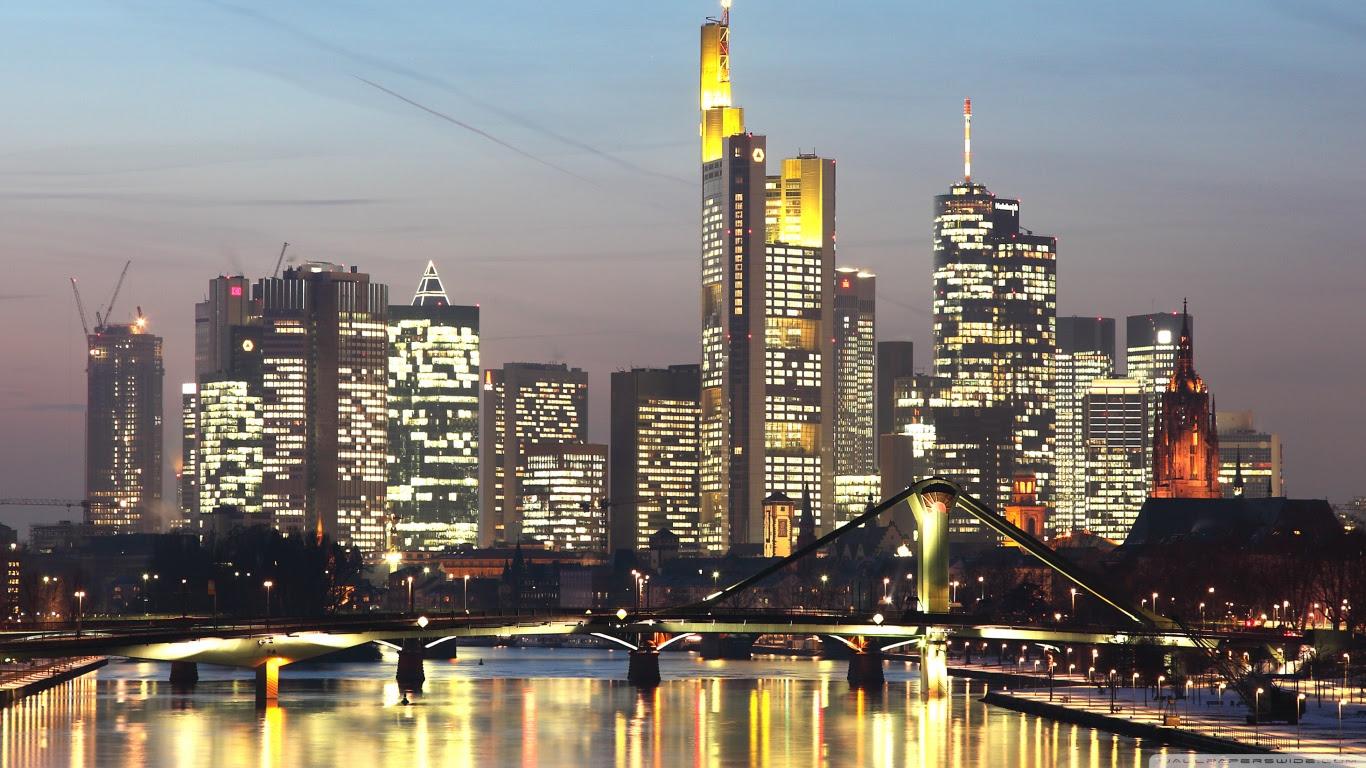 Skyline of Frankfurt am Main Germany ❤ 4K HD Desktop Wallpaper