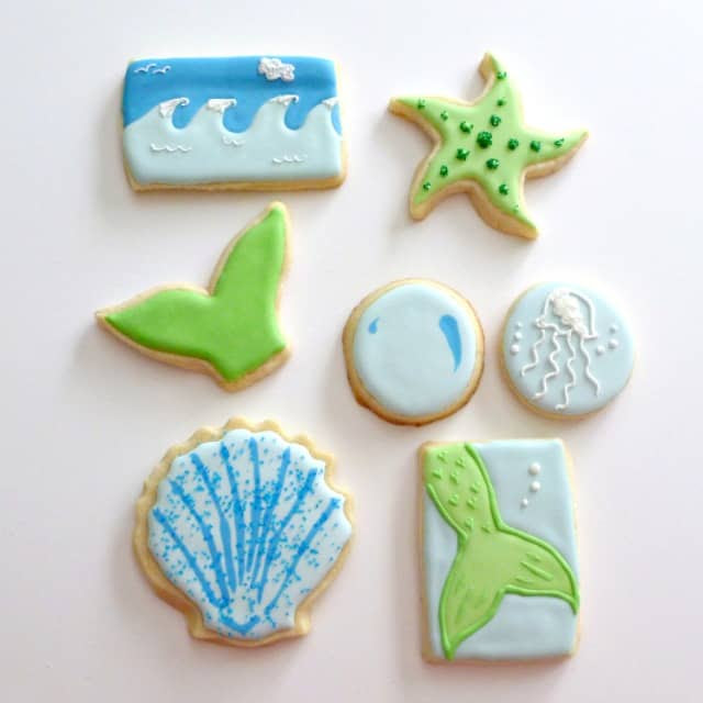 Ocean-Mermaid-Theme-Decorated-Sugar-Cookies