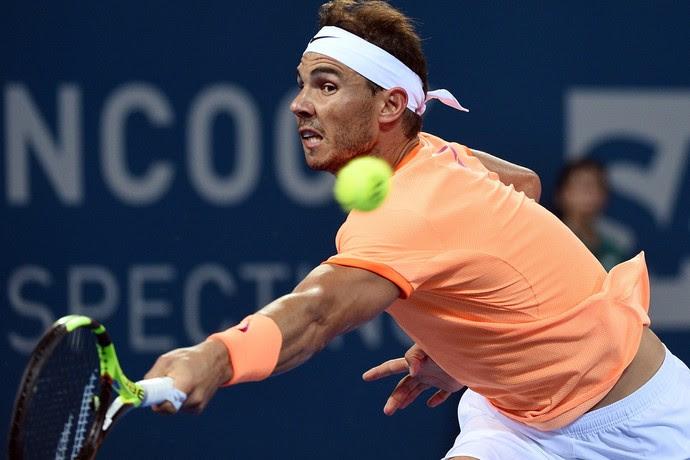 Rafael Nadal na derrota para Milos Raonic no ATP de Brisbane tênis (Foto: Saeed KHAN / AFP)