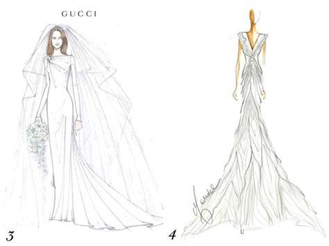 Gucci and J. Mendel sketch their visions for Kate