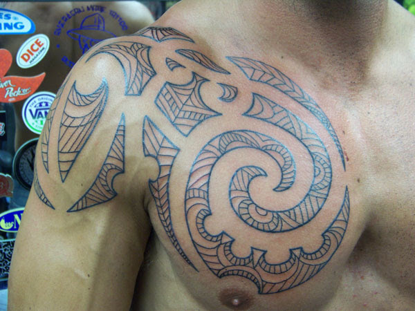 Shoulder And Chest Tribal Tattoos Tattoos Designs Ideas