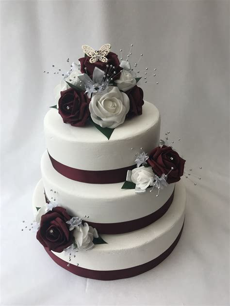 Artificial Wedding Cake Topper Butterfly 3 piece