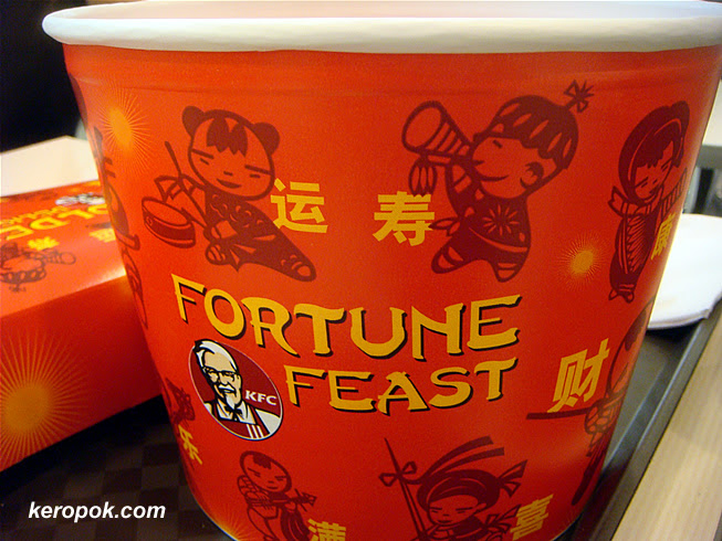 The fortune feast bucket.
