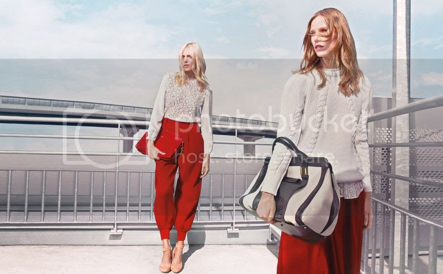 Chloé fall winter 2012/13 advertising campaign : Anja Rubik and Suvi Koponen by Craig McDean