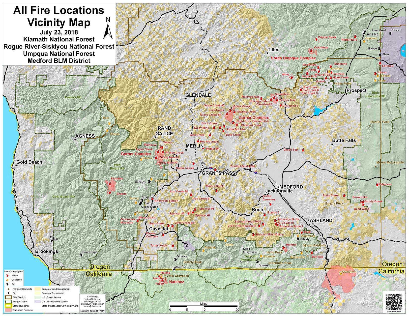 Fires In Southern Oregon Map Time Zones Map: Southern Oregon Fire Map 2018
