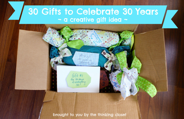 30 Gifts to Celebrate 30 Years | Creative gift idea via The Thinking ...