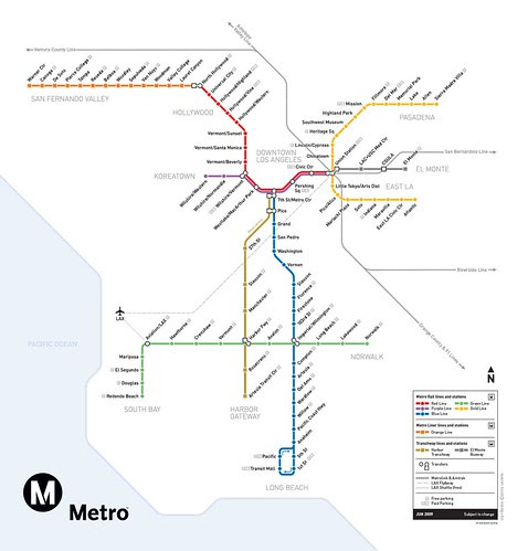 Metro Rail System Map- June 2009