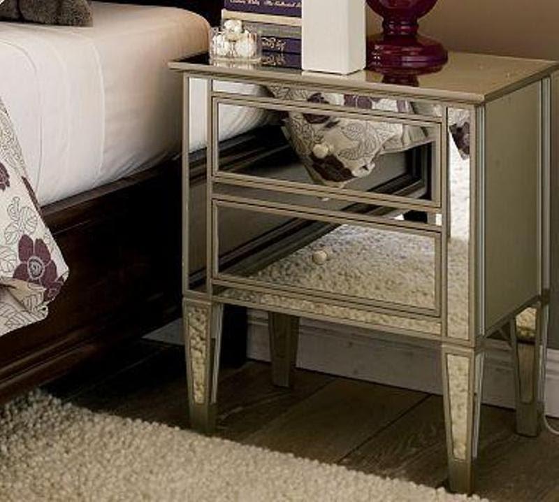10 Classy Mirrored Bedside Table Designs - Rilane
