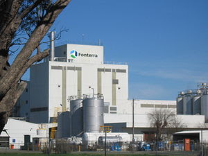 Fonterra factory in Stanhope, Victoria