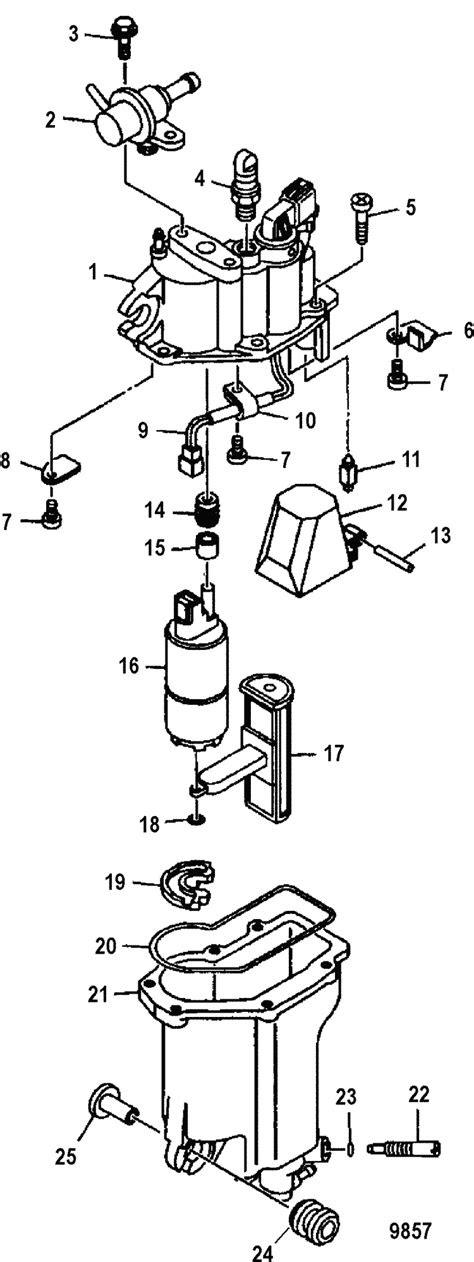 Mercury Marine 75 HP EFI (4-Stroke) Vapor Separator Parts