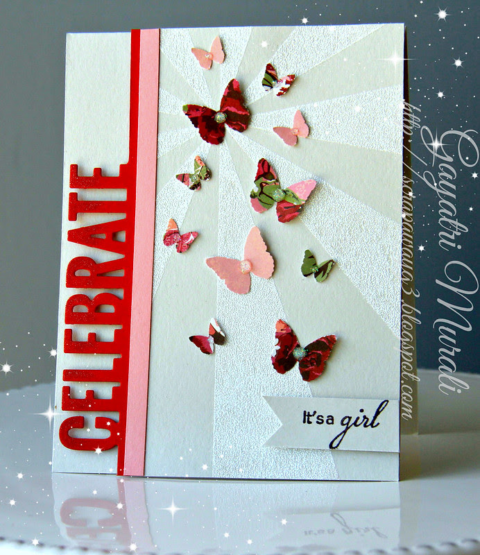 Celebrate! It's a girl card