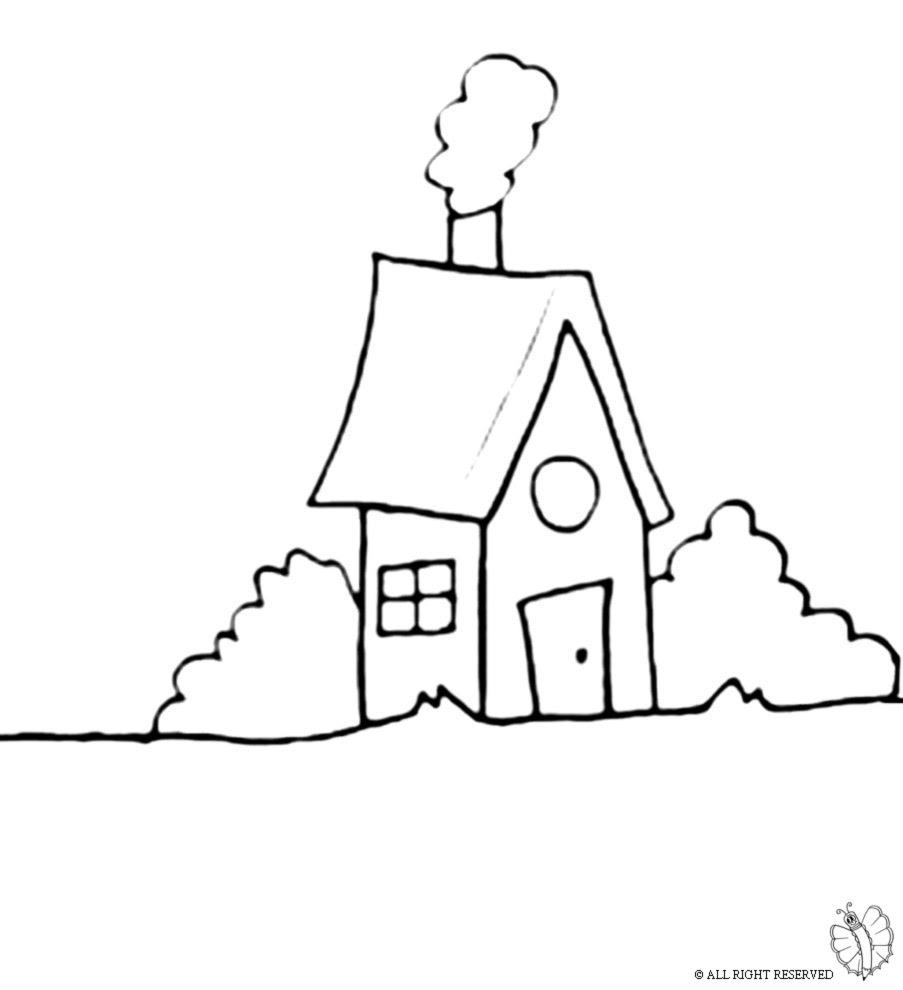 Disegno Di Casa Nel Bosco Da Colorare Per Bambini