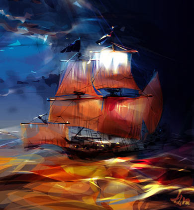 Jeanne de Clisson had her ships painted black with red sails