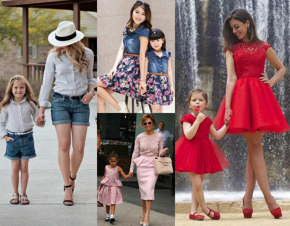 adorable mother daughter matching outfits – south india