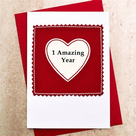 'one amazing year' 1st anniversary card by jenny arnott