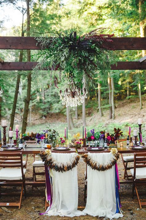 Fall bohemian jewel toned wedding inspiration   100 Layer Cake